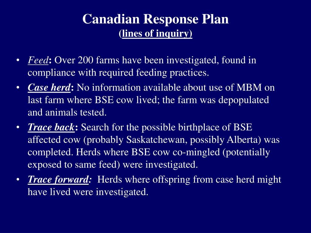 Canadian Response Plan
