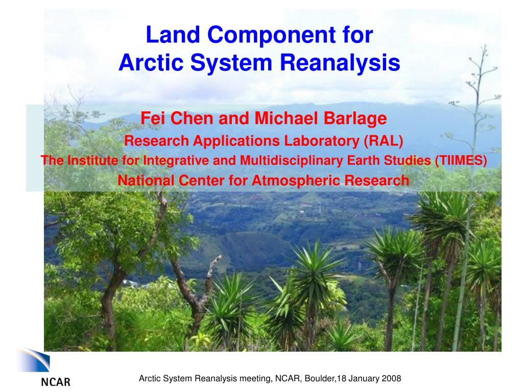 land component for arctic system reanalysis l.