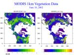 modis 1km vegetation data june 18 2002
