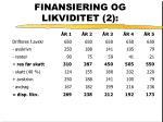 finansiering og likviditet 2