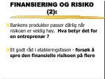 finansiering og risiko 2