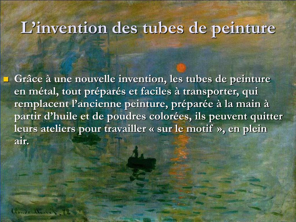 L'invention des tubes de peinture