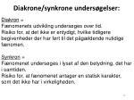 diakrone synkrone unders gelser