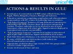 actions results in gulu