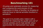 benchmarking 101