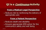 qi is a continuous activity34