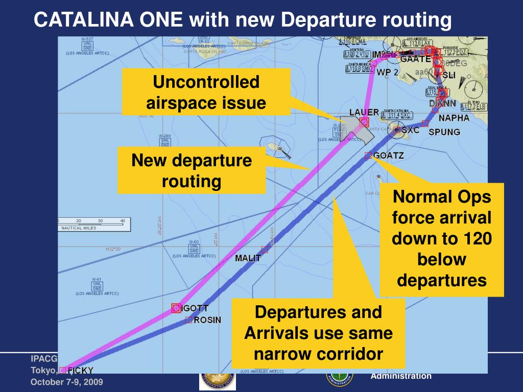 CATALINA ONE with new Departure routing