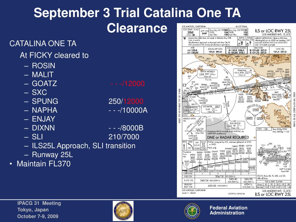 September 3 Trial Catalina One TA Clearance