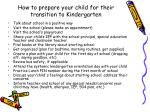 how to prepare your child for their transition to kindergarten