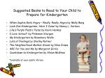suggested books to read to your child to prepare for kindergarten
