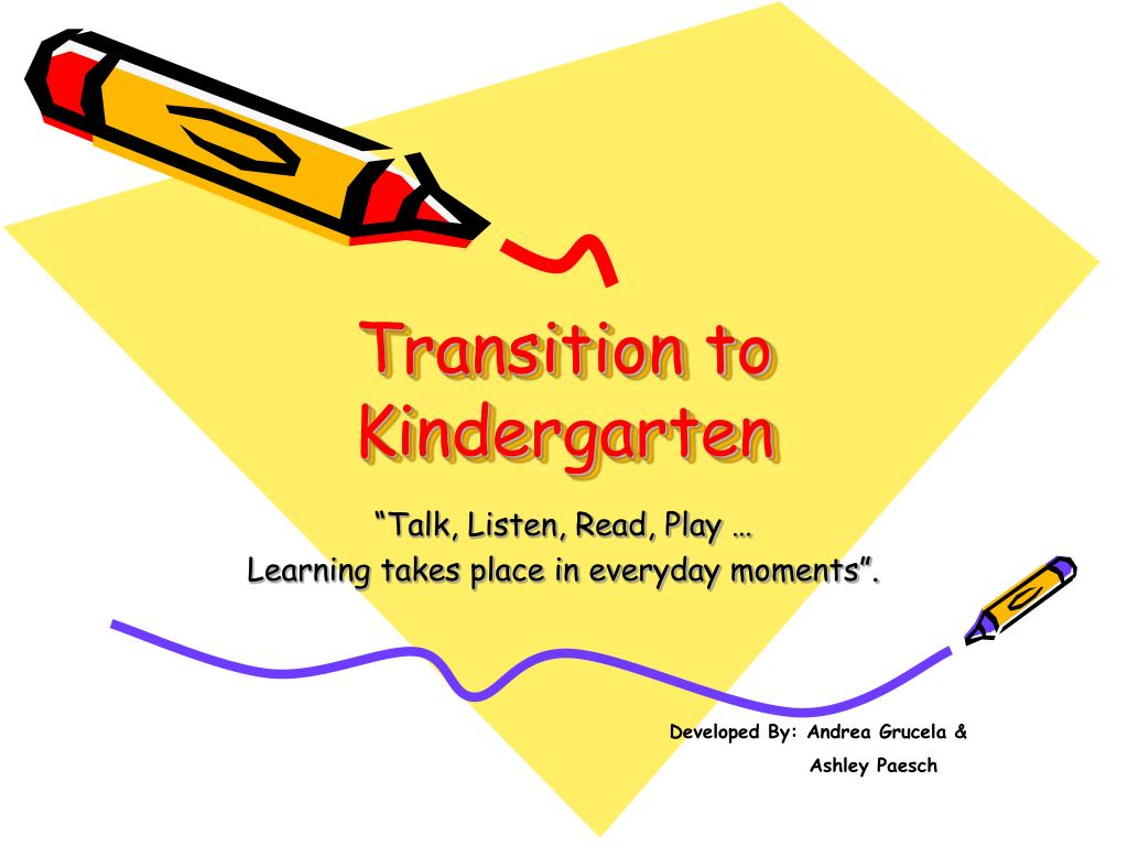 transition to kindergarten l.