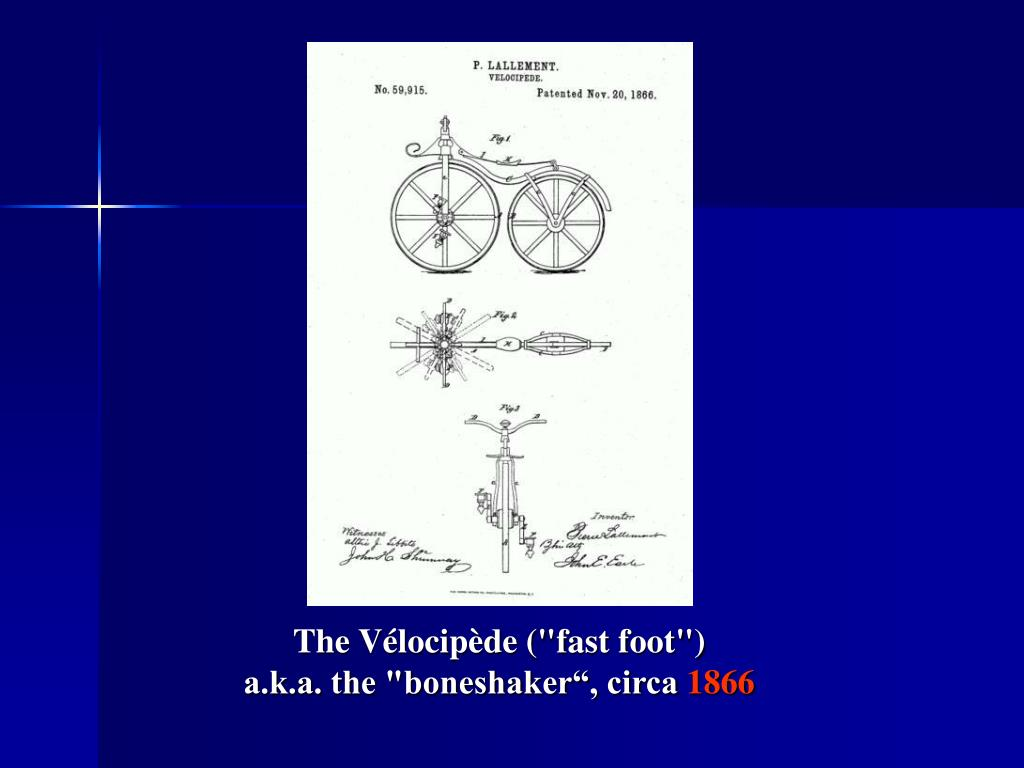"The Vélocipède (""fast foot"")"