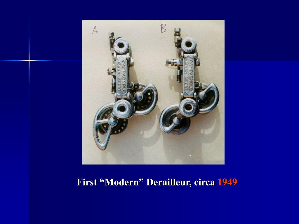 "First ""Modern"" Derailleur, circa"