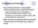 a definition of phishing