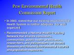 pew environmental health commission report