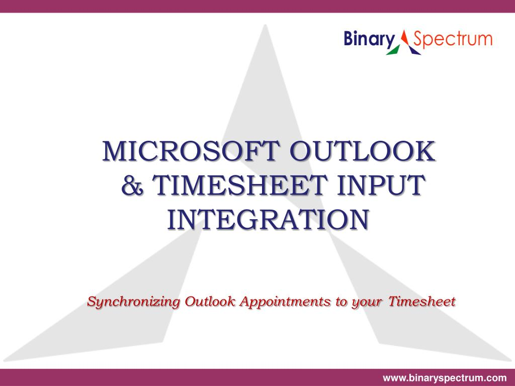 microsoft outlook timesheet input integration synchronizing outlook appointments to your timesheet l.