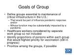 goals of group