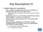 key assumptions iv