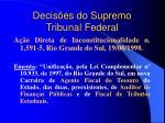 decis es do supremo tribunal federal