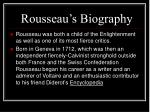 rousseau s biography
