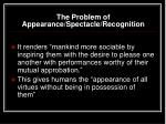 the problem of appearance spectacle recognition