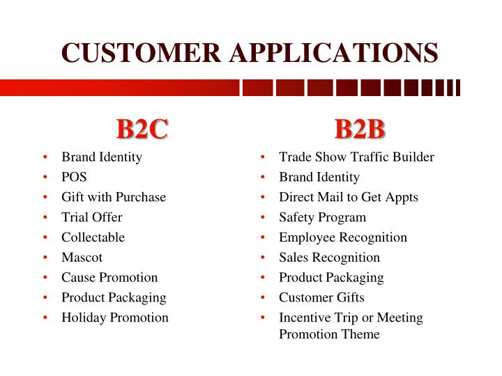 Customer applications