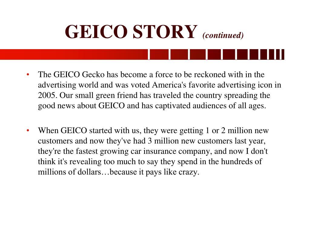 GEICO STORY