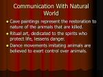 communication with natural world