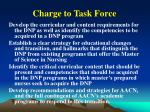 charge to task force