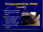 polyacrylonitrile pan cont