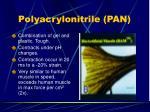 polyacrylonitrile pan