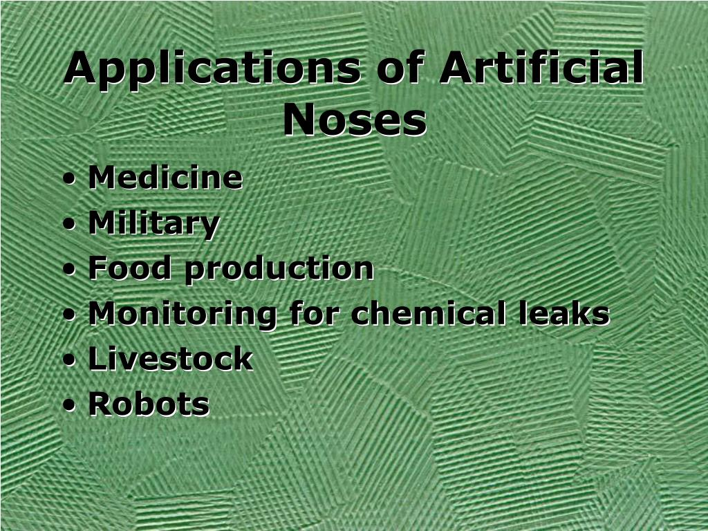 Applications of Artificial Noses