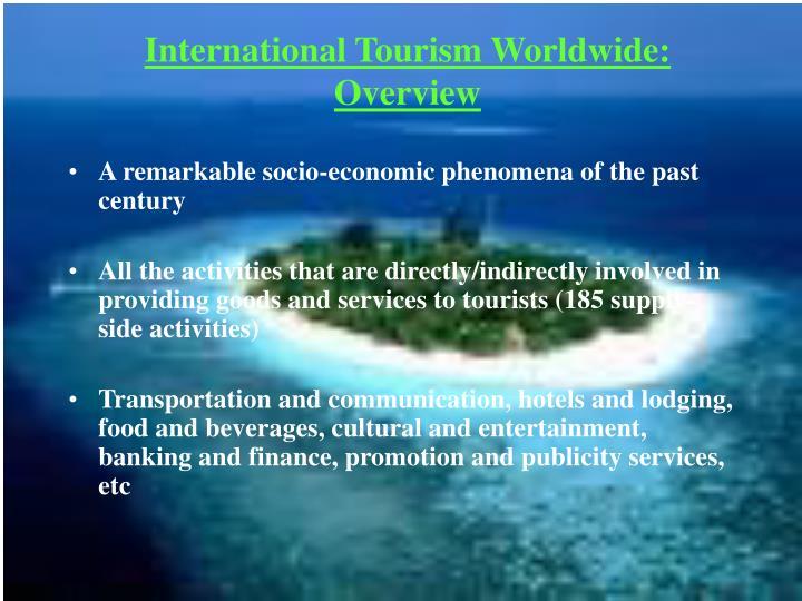 International tourism worldwide overview