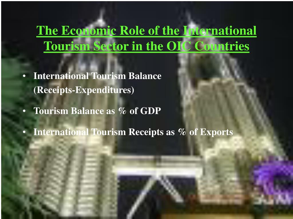 The Economic Role of the International Tourism Sector in the OIC Countries