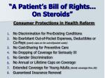 a patient s bill of rights on steroids