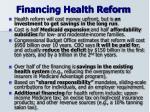 financing health reform