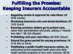 fulfilling the promise keeping insurers accountable