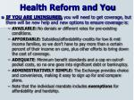 health reform and you19