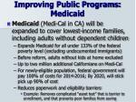 improving public programs medicaid