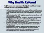 why health reform