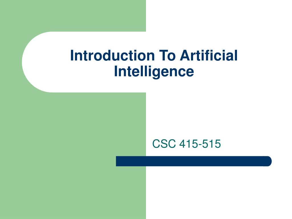 introduction to artificial intelligence l.