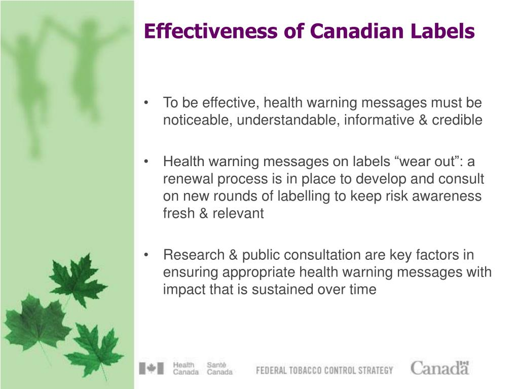Effectiveness of Canadian Labels