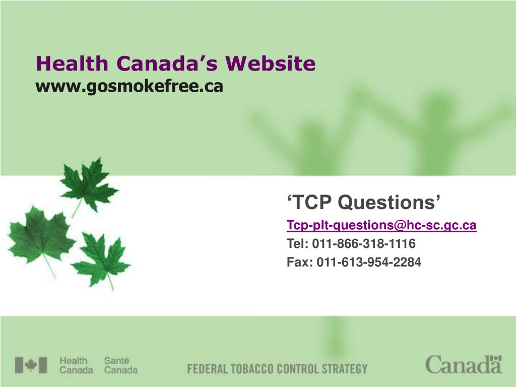 Health Canada's Website