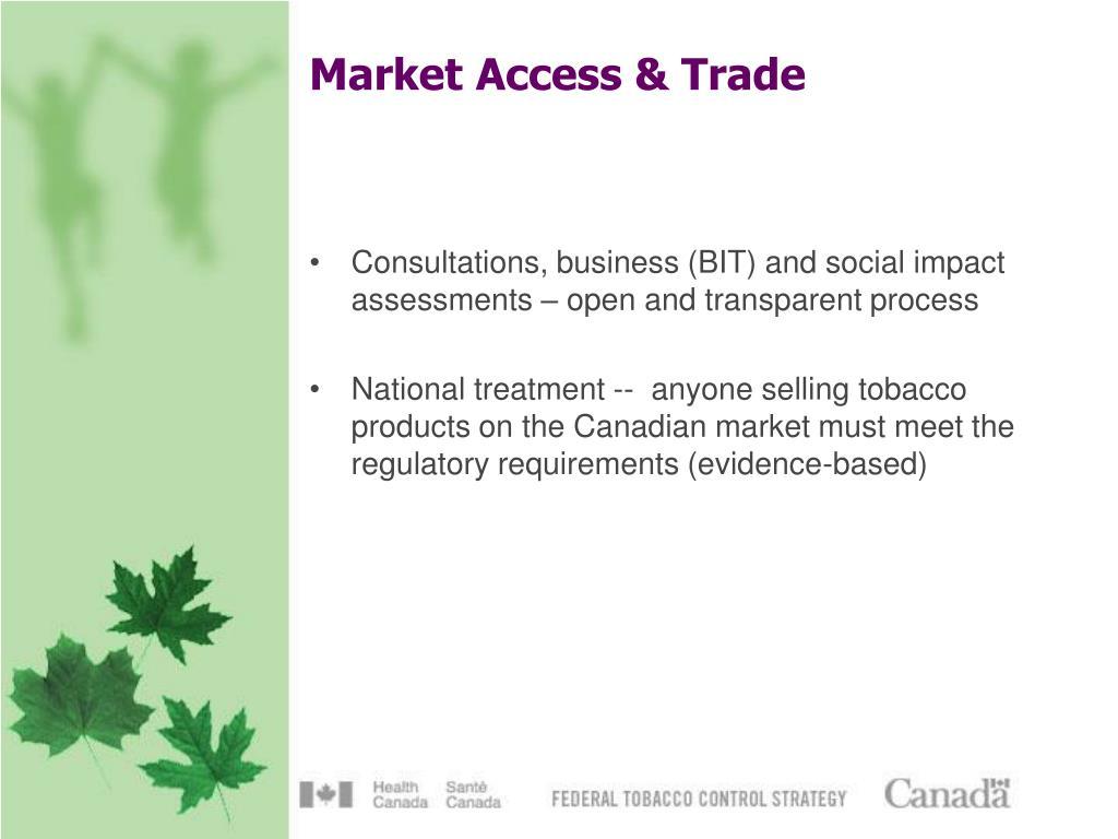 Market Access & Trade