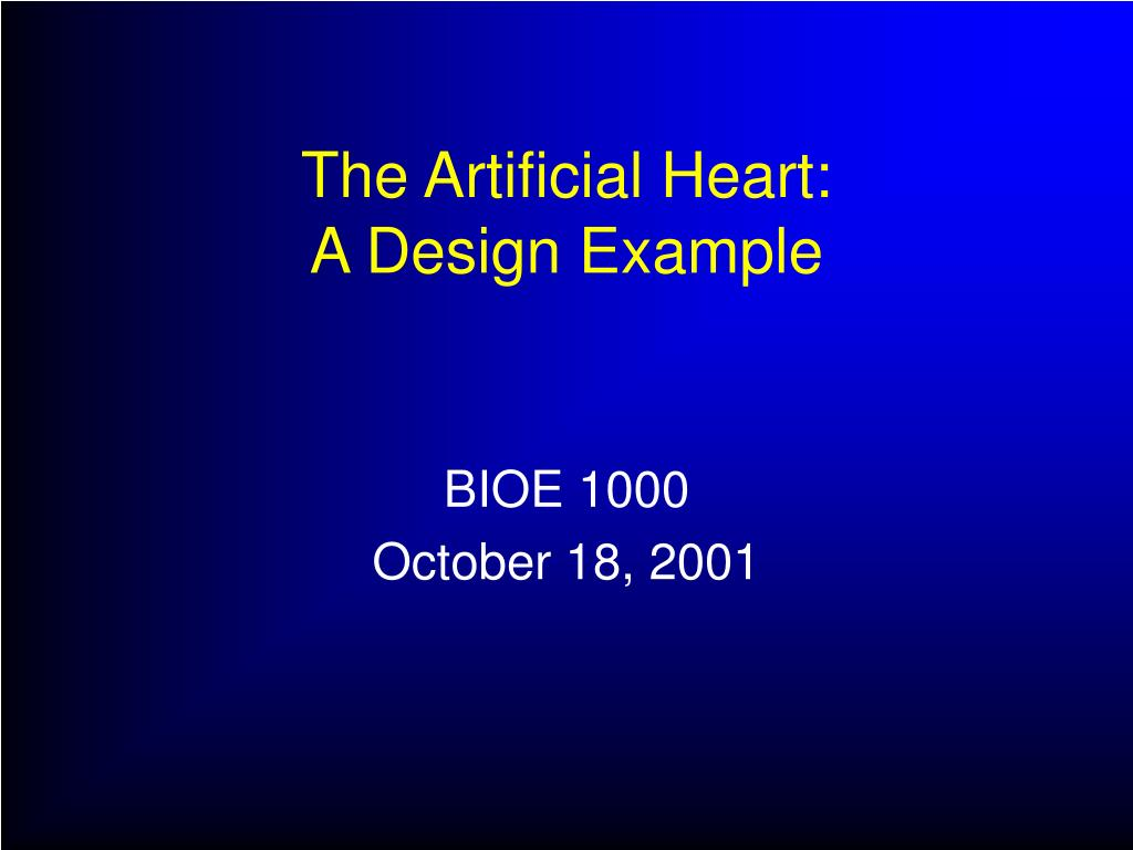 the artificial heart a design example l.