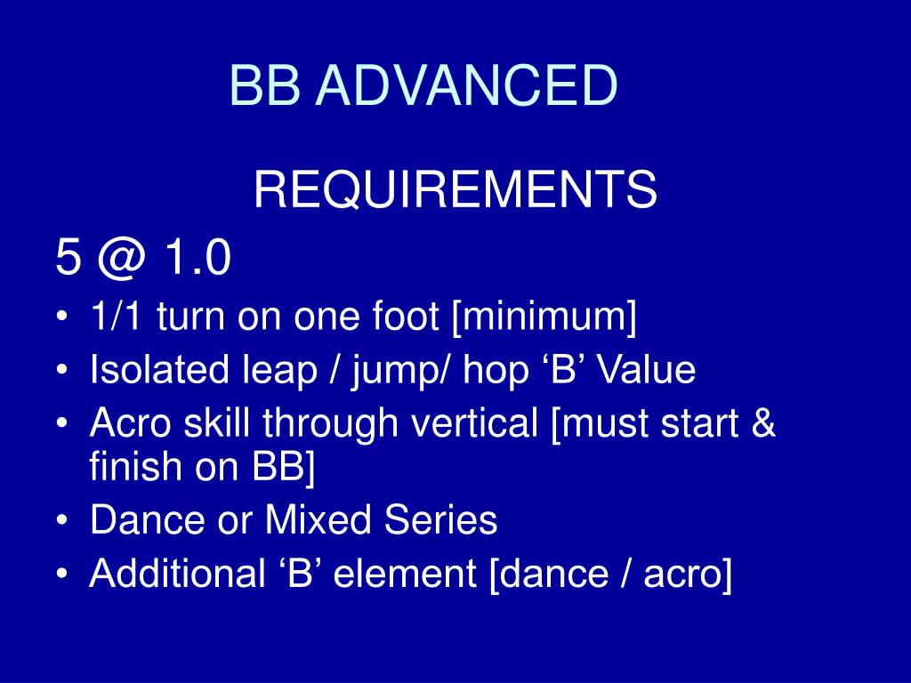 BB ADVANCED
