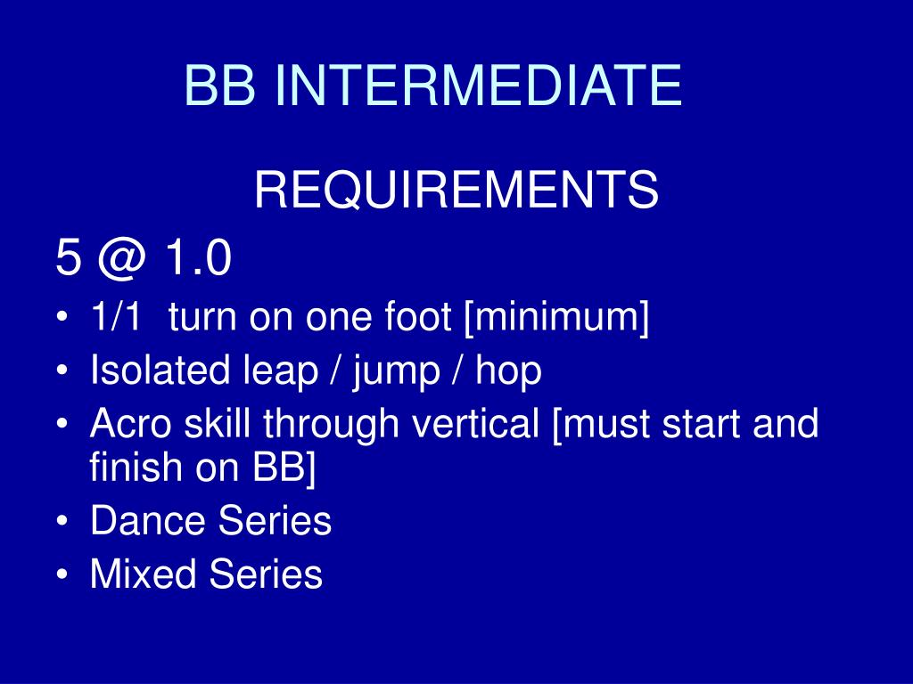 BB INTERMEDIATE