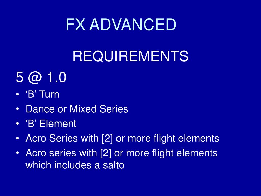 FX ADVANCED