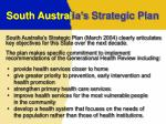 south austral ia s strategic plan