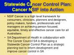 statewide ca ncer control plan cancer n sif into action